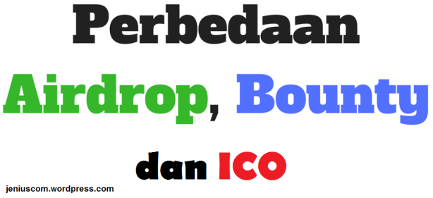 apa itu airdrop, bounty, ico
