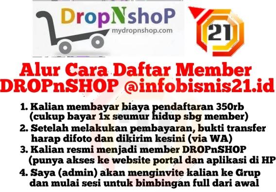 Cara Daftar DROPnSHOP @infobisnis21.id